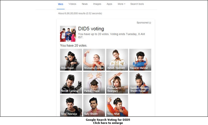Google Search Voting for DID5