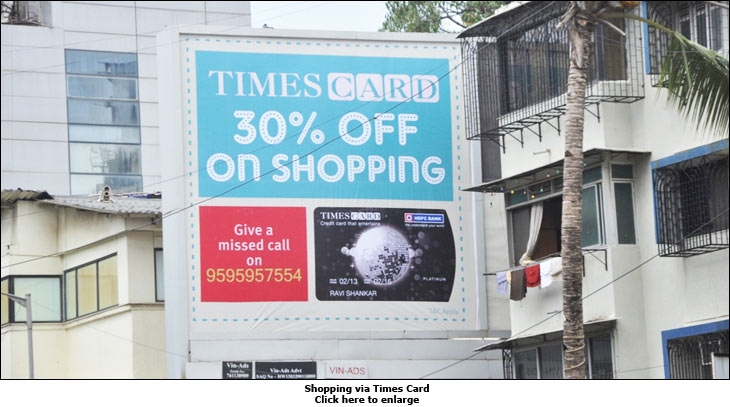 Shopping via Times Card