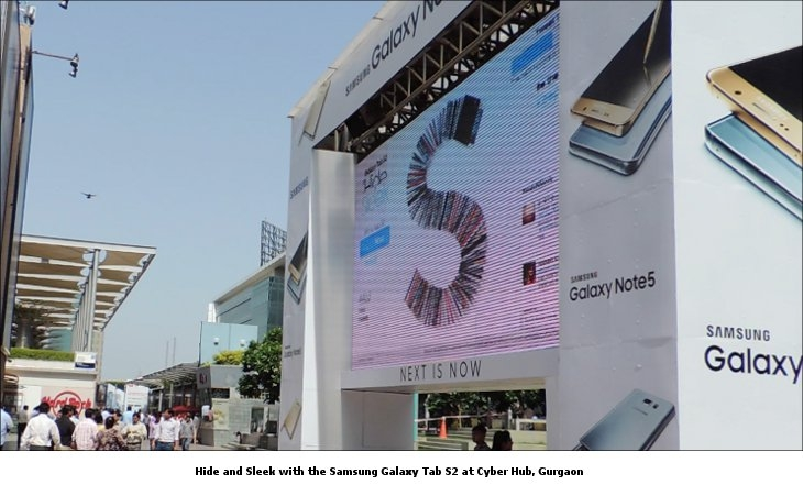 Hide and Sleek with the Samsung Galaxy Tab S2 at Cyber Hub, Gurgaon