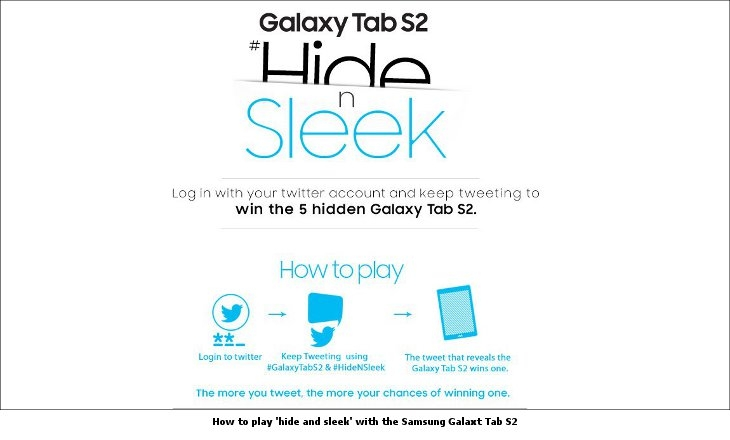 How to play 'hide and sleek' with the Samsung Galaxt Tab S2