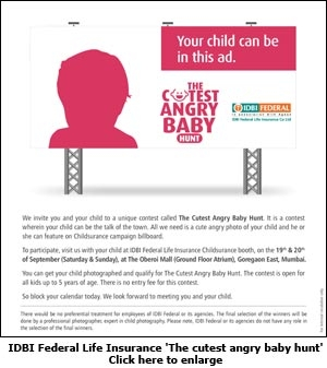IDBI Federal Life Insurance 'The cutest angry baby hunt'