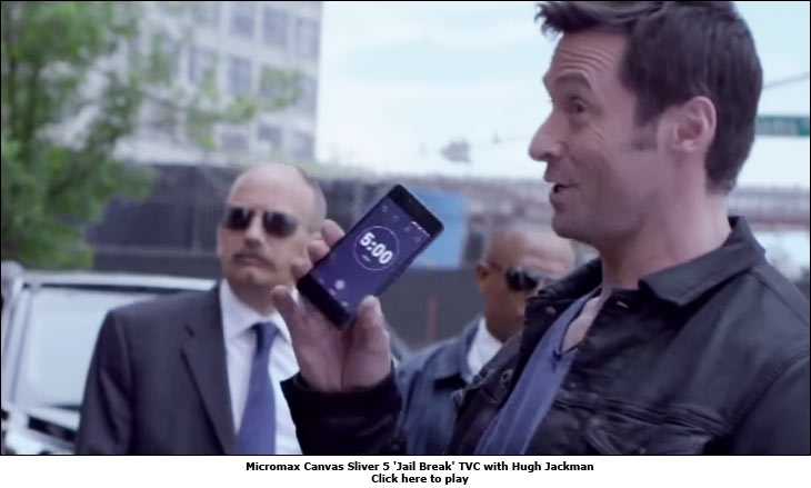 Micromax Canvas Sliver 5 'Jail Break' TVC with Hugh Jackman