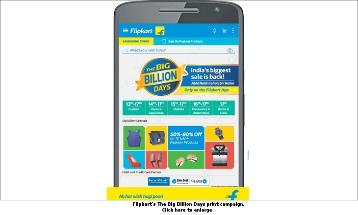 Flipkart's The Big Billion Days print campaign