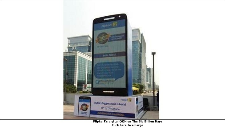 Flipkart's digital OOH on The Big Billion Days
