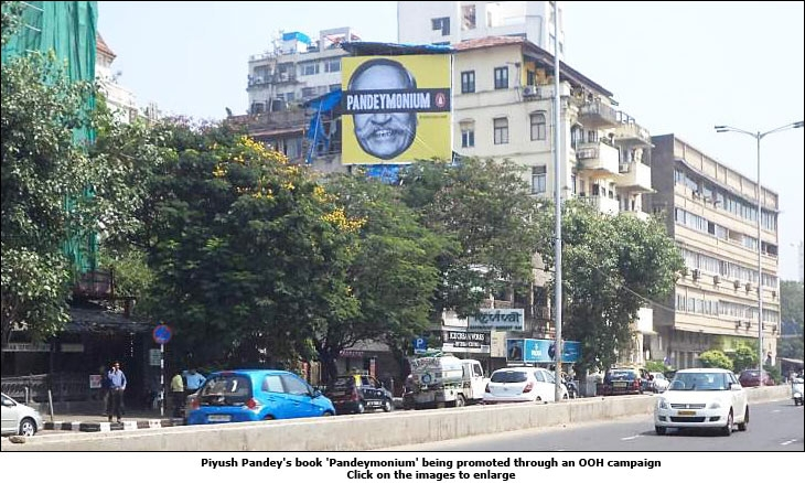 Piyush Pandey's book 'Pandeymonium' being promoted through an OOH campaign