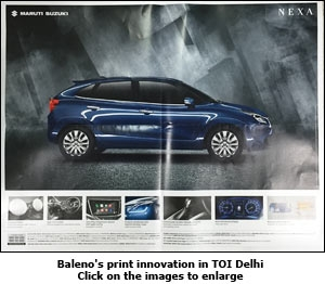 Baleno's print innovation in TOI Delhi