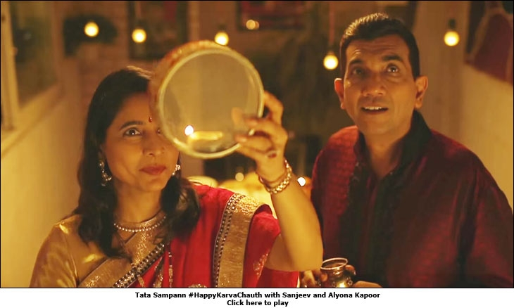 Tata Sampann #HappyKarvaChauth with Sanjeev and Alyona Kapoor