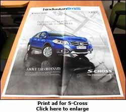 Print ad for S-Cross