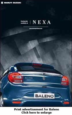 Print advertisement for Baleno