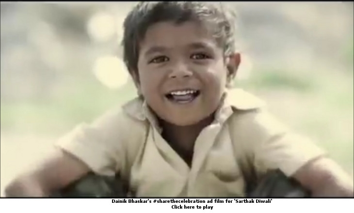 Dainik Bhaskar's #sharethecelebration ad film for Sarthak Diwali