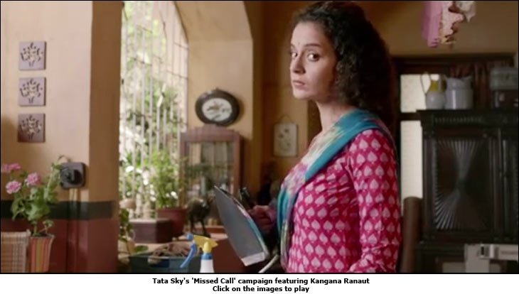 Tata Sky's 'Missed Call' campaign featuring Kangana Ranaut