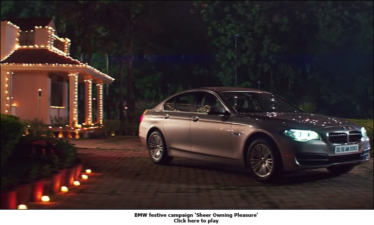 BMW festive campaign 'Sheer Owning Pleasure'
