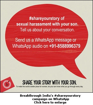 Breakthrough India's #shareyourstory campaign on WhatsApp