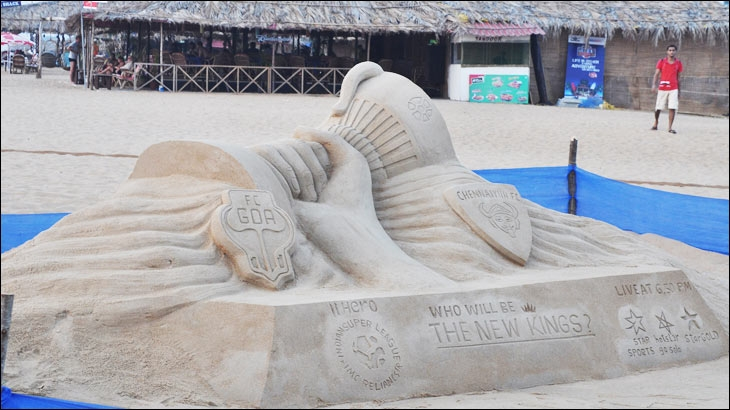 Hero Indian Super League's sand art innovation at Candolim beach in Goa