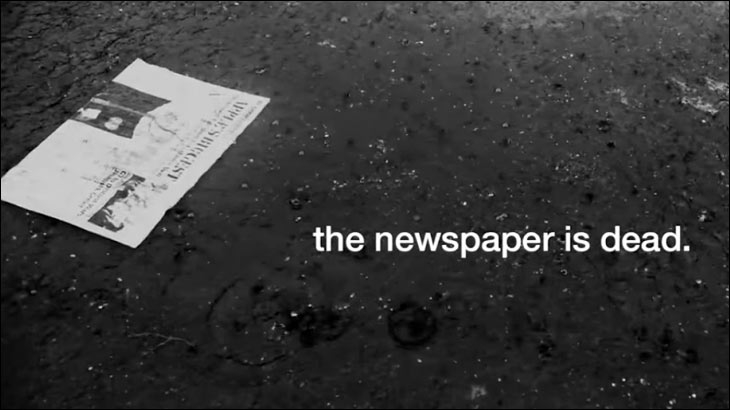 The Indian Express mourns the death of newspapers