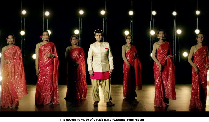 The upcoming video of 6 Pack Band featuring Sonu Nigam