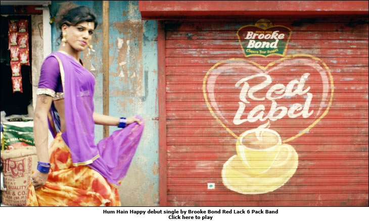 Hum Hain Happy debut single by Brooke Bond Red Lack 6 Pack Band