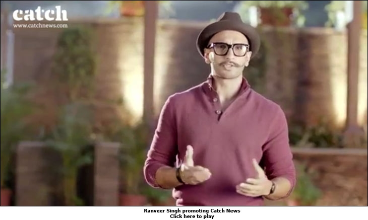 Ranveer Singh promoting Catch News