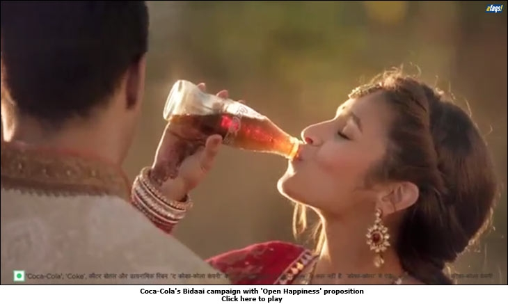 Coca-Cola's Bidaai campaign with 'Open Happiness' proposition