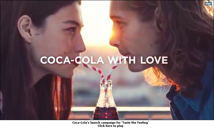 Coca-Cola's launch campaign for 'Taste the Feeling'