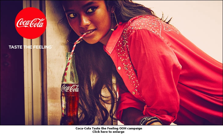 Coca-Cola Taste the Feeling OOH campaign