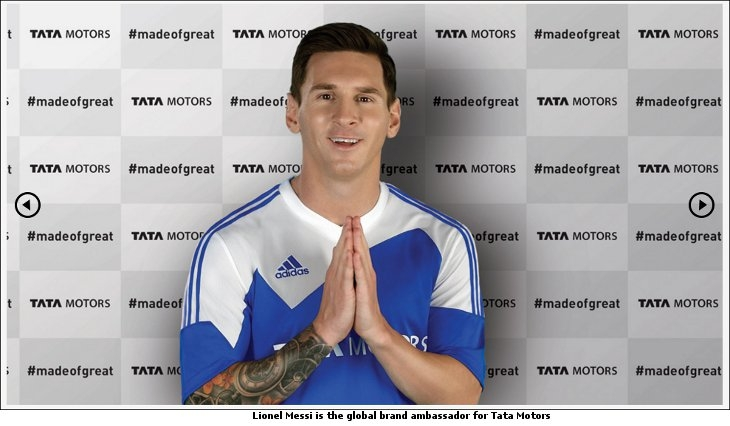 Lionel Messi is the global brand ambassador for Tata Motors