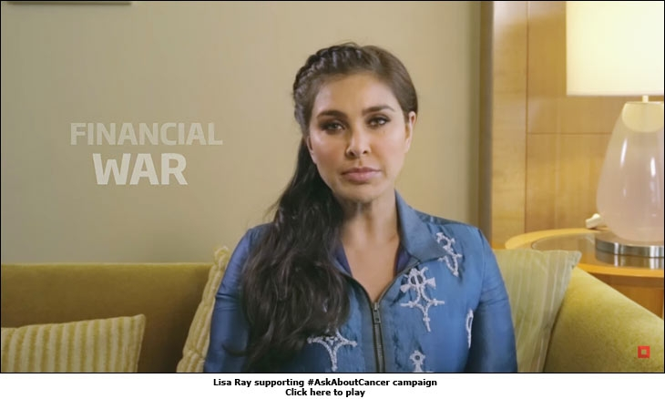 Lisa Ray supporting #AskAboutCancer campaign
