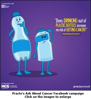 Practo's Ask About Cancer Facebook campaign