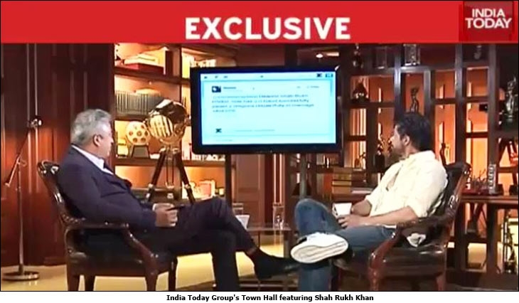India Today Group's Town Hall featuring Shah Rukh Khan