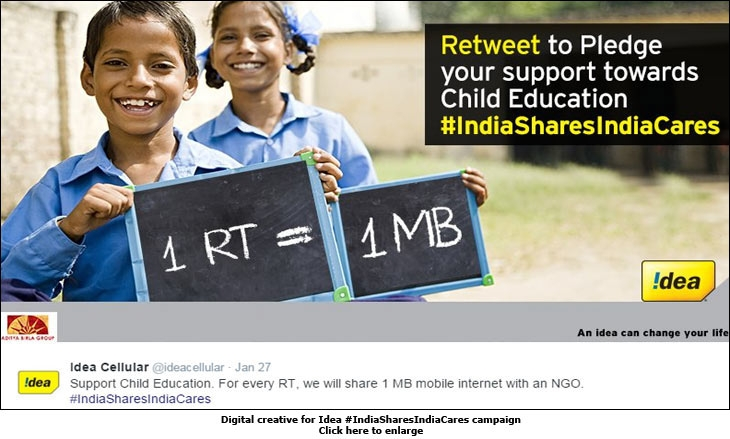 Digital creative for Idea #IndiaSharesIndiaCares campaign