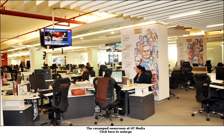 The revamped newsroom at HT Media
