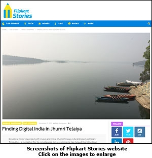 A screebgrab of Flipkart Stories website