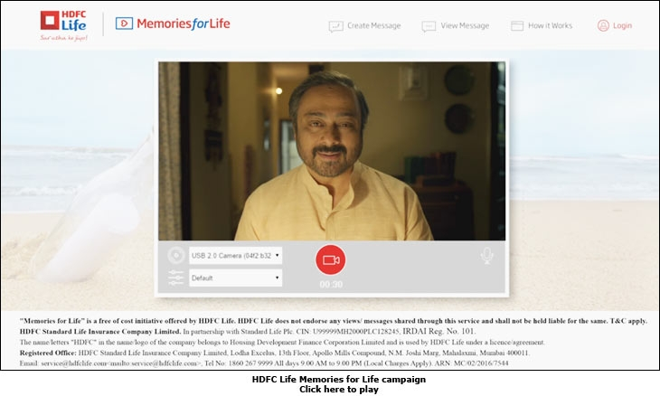 HDFC Life Memories for Life campaign