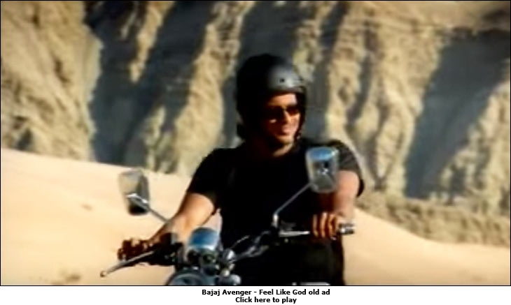 Bajaj Avenger - Feel Like God old ad
