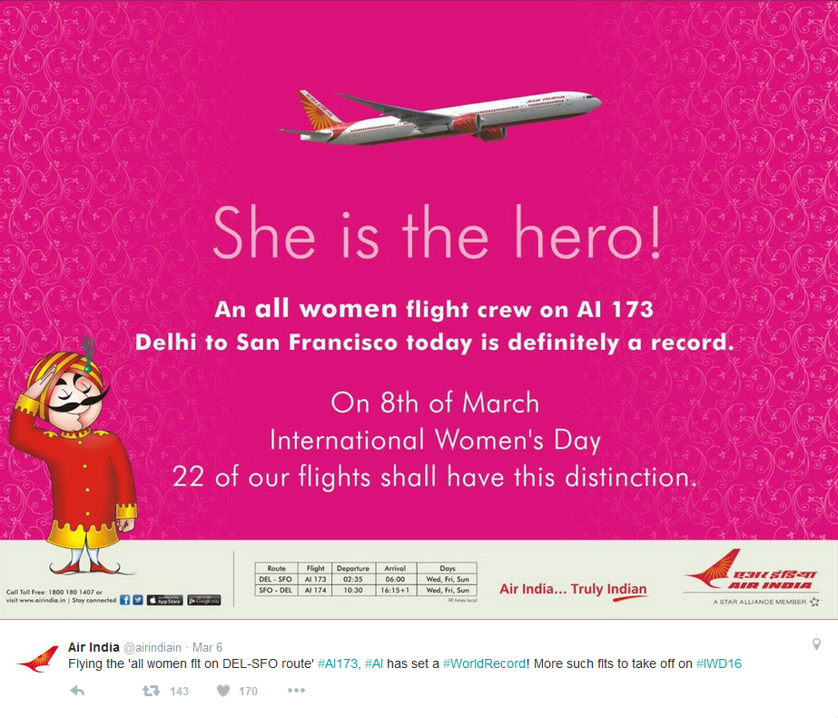 Air India creates history with an all women crew
