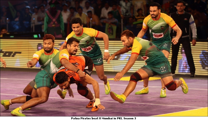 Patna Pirates beat U Mumbai