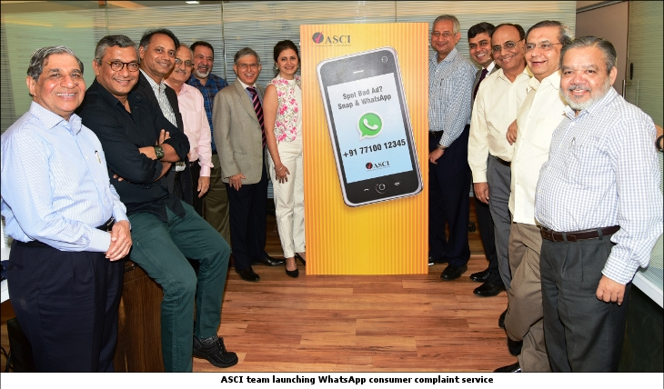 ASCI team launching WhatsApp consumer complaint service