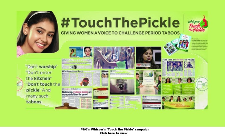 BBDO's Touch the Pickle campaign for P&G's Whisper