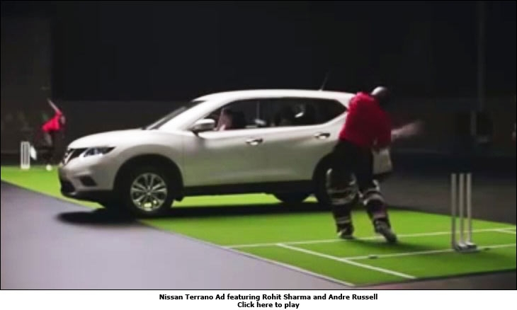 Nissan Terrano Ad featuring Rohit Sharma and Andre Russel