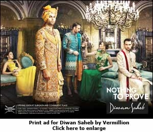 Print ad for Diwan Saheb by Vermillion