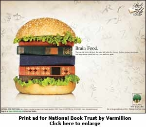 Print ad for National Book Trust by Vermillion