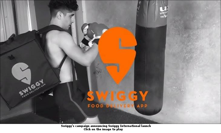 Swiggy's campaign announcing Swiggy International launch