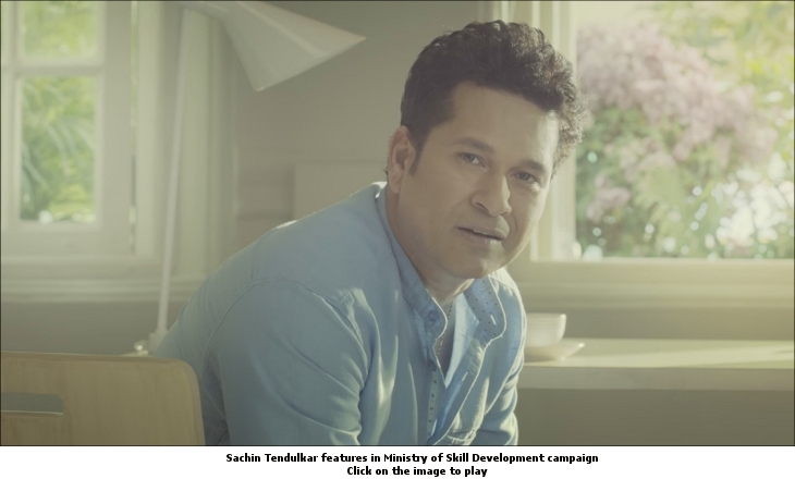 Sachin Tendulkar Ministry of Skill Development campaign