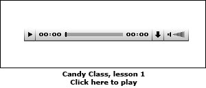 Candy Class, lesson 1
