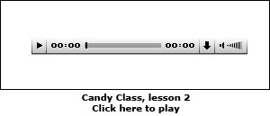 Candy Class, lesson 2