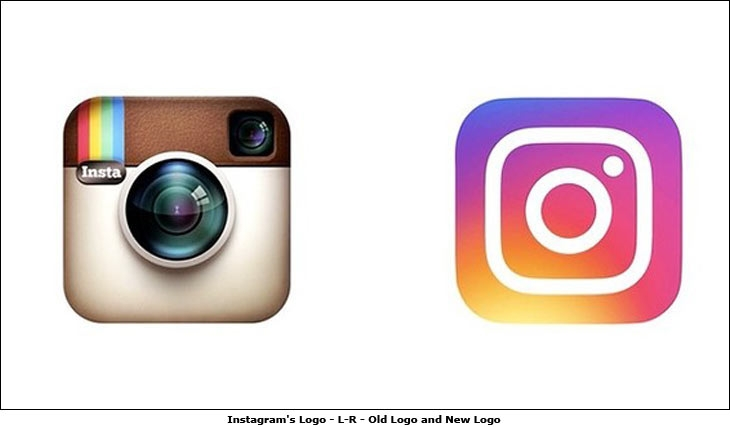 Instagram's Logo - L-R - Old Logo and New Logo