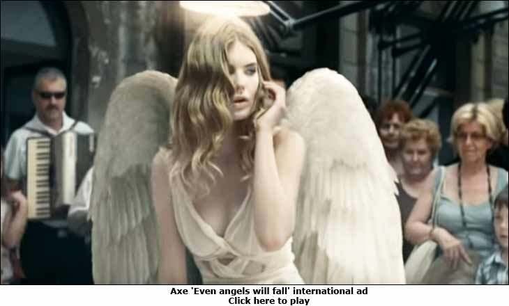 Axe 'Even angels will fall' international ad