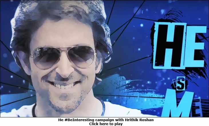 He #BeInteresting campaign with Hrithik Roshan