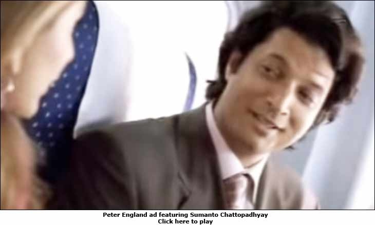 Peter England ad featuring Sumanto Chattopadhyay