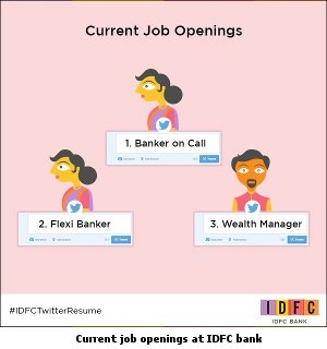 Current job openings at IDFC bank